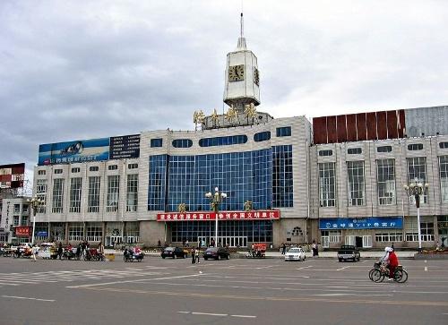 佳木斯的火车站
