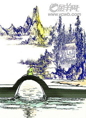 你站在桥上看风景,  看风景的人在楼上看你.