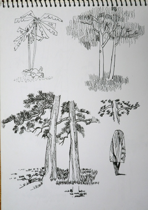 现代建筑钢笔画速写 现代建筑钢笔画速写 简单建筑钢笔画