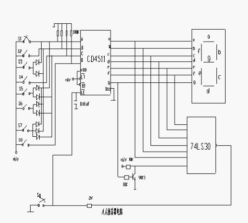 [转载]八路智力竞赛抢答器的设计与制作