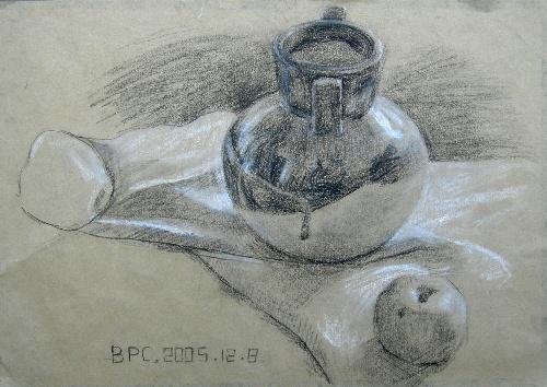 素描画 石膏 静物步骤图片