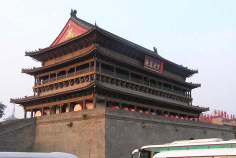 西安钟鼓楼和大雁塔