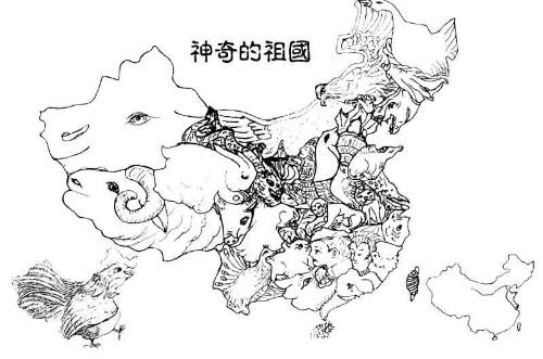 地图 简笔画 手绘 线稿 500_331