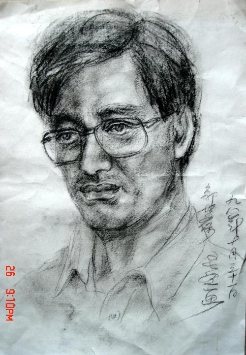 炭笔素描头像2幅-竹影轩-搜狐空间
