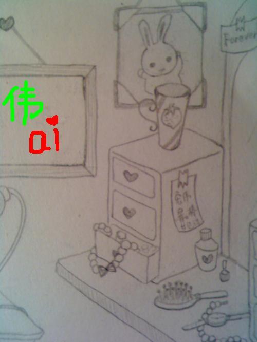 小女孩吃西瓜简笔画