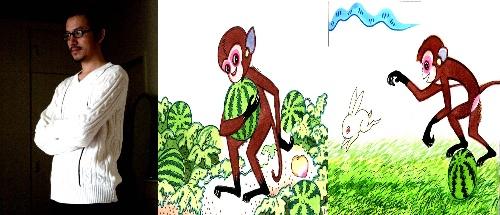 小猴子二次下山简笔画分享展示