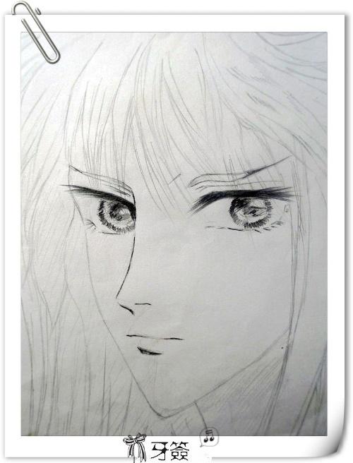 手绘美男 铅笔画