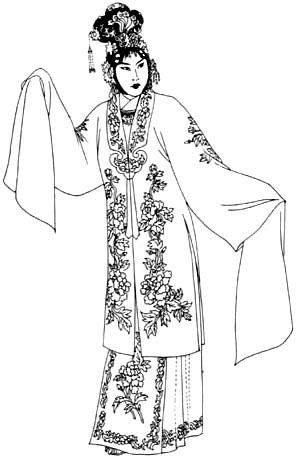 京剧人物简笔画古风