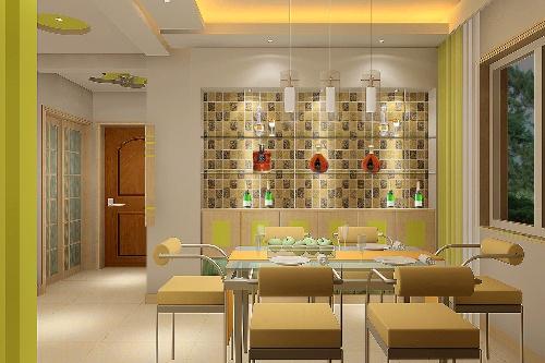 时尚家装餐厅酒柜装修效果图 2013客厅装修效果图 ┆客厅高清图片