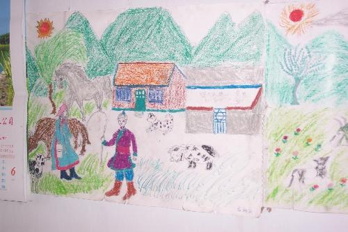 小朋友感恩父母的画画图片
