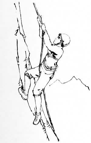 小孩登山简笔画