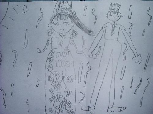 """父亲的素描画-个月的铅笔画""""爸爸妈妈的婚礼"""".瞧,爸爸高大英俊,帅气逼人,妈图片"""