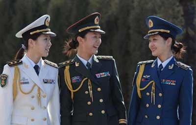 07式海陆空女兵服-军服的历史变迁图片