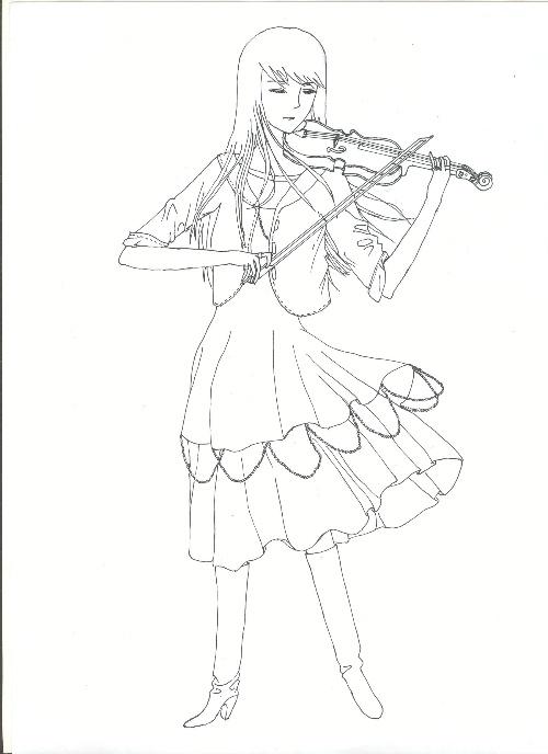 小提琴简笔画图片大全