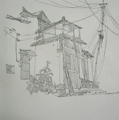 钢笔风景速写临摹_风景速写钢笔画图片