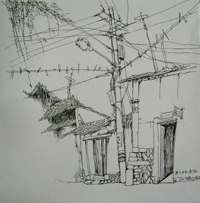 树木速写 钢笔风景 速写 钢笔画速写 画法